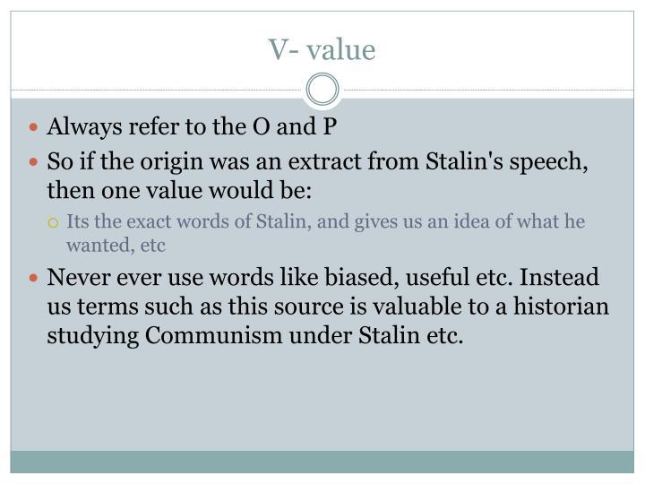 V- value
