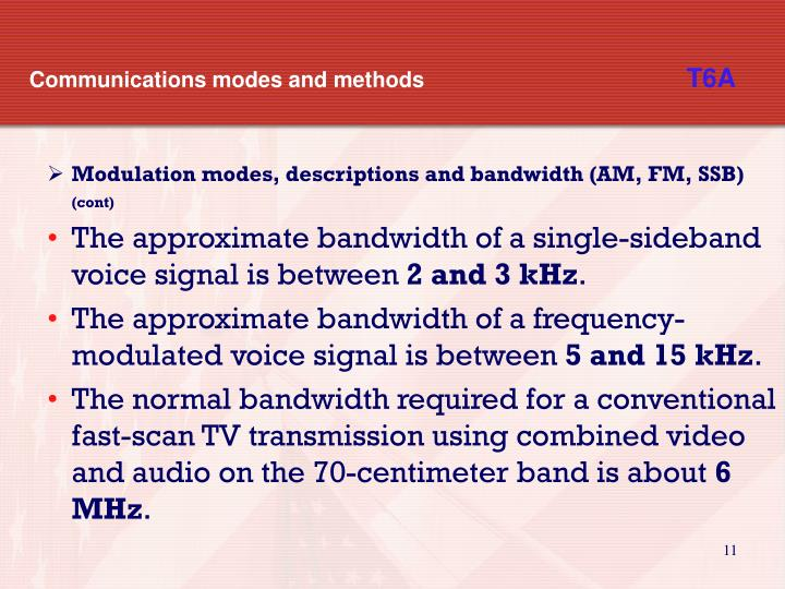 Communications modes and methods