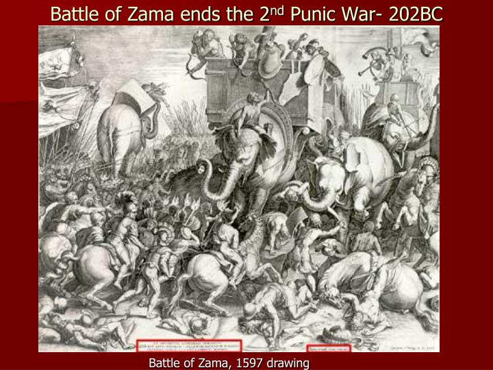 Battle of Zama ends the 2