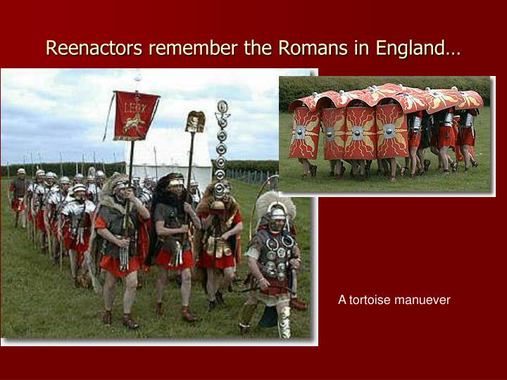 Reenactors remember the romans in england