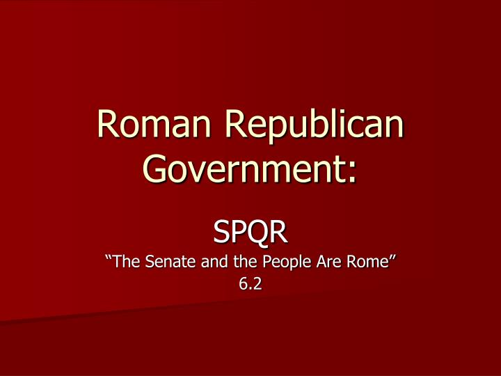 Roman republican government
