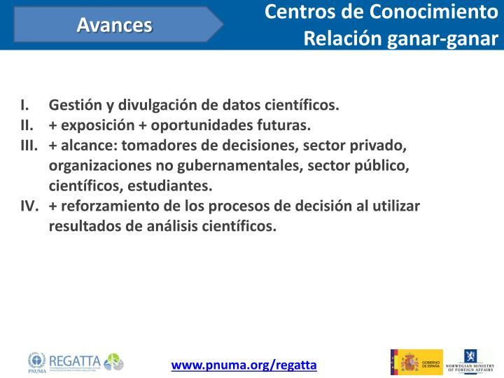 Centros de Conocimiento