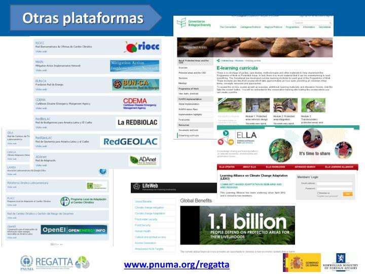 Otras plataformas