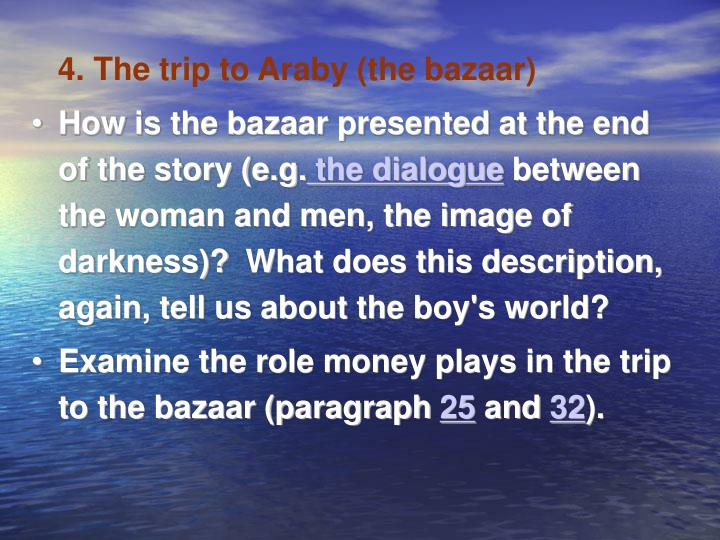 4. The trip to Araby (the bazaar)