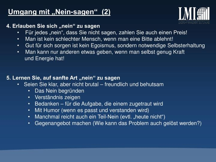 """Umgang mit """"Nein-sagen""""  (2)"""