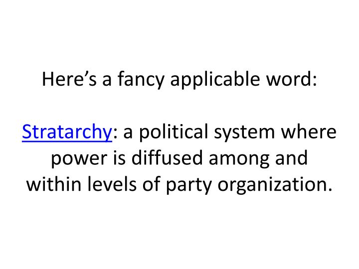 Here's a fancy applicable word: