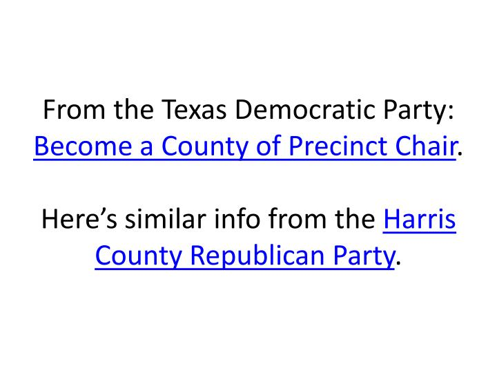From the Texas Democratic Party: