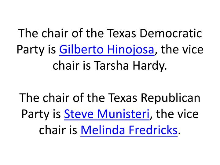 The chair of the Texas Democratic Party is