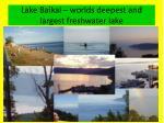 lake baikal worlds deepest and largest freshwater lake