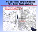 apg spill from a barge in mississipi river baton rouge louisiana