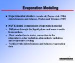 evaporation modeling
