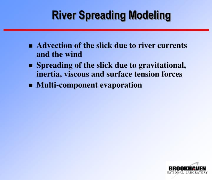 River Spreading Modeling