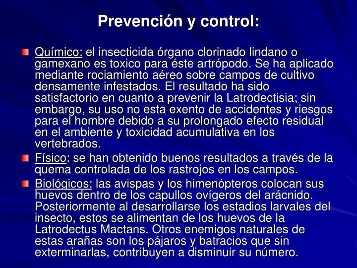 Prevención y control: