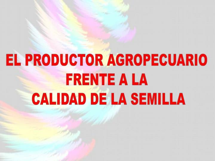 EL PRODUCTOR AGROPECUARIO