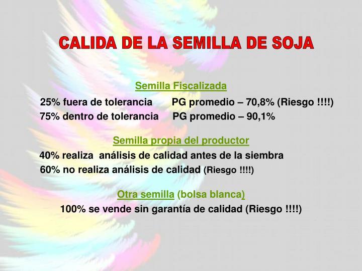 CALIDA DE LA SEMILLA DE SOJA