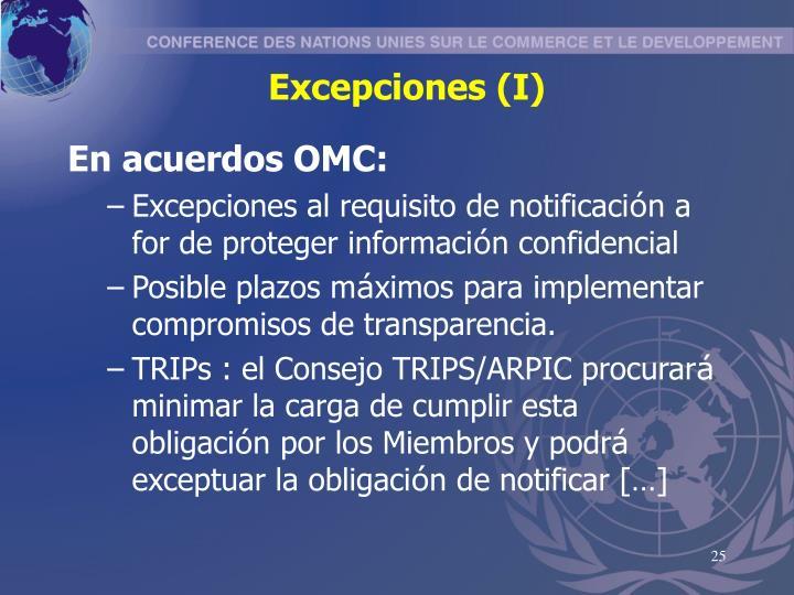 Excepciones (I)