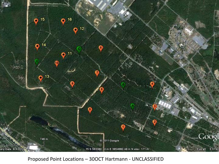 Proposed Point Locations – 30OCT Hartmann - UNCLASSIFIED
