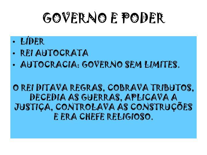 GOVERNO E PODER