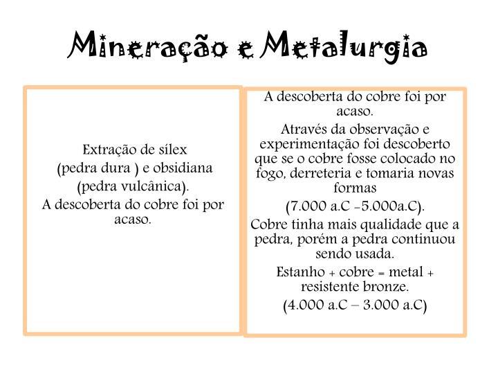 Mineração e Metalurgia