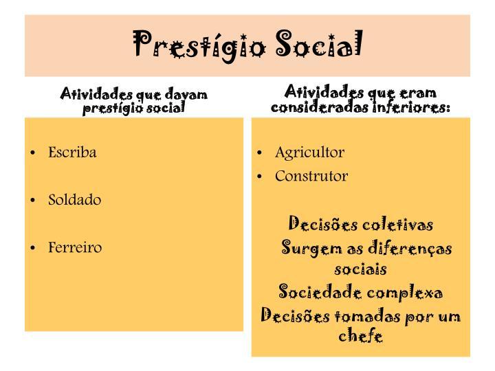 Prestígio Social