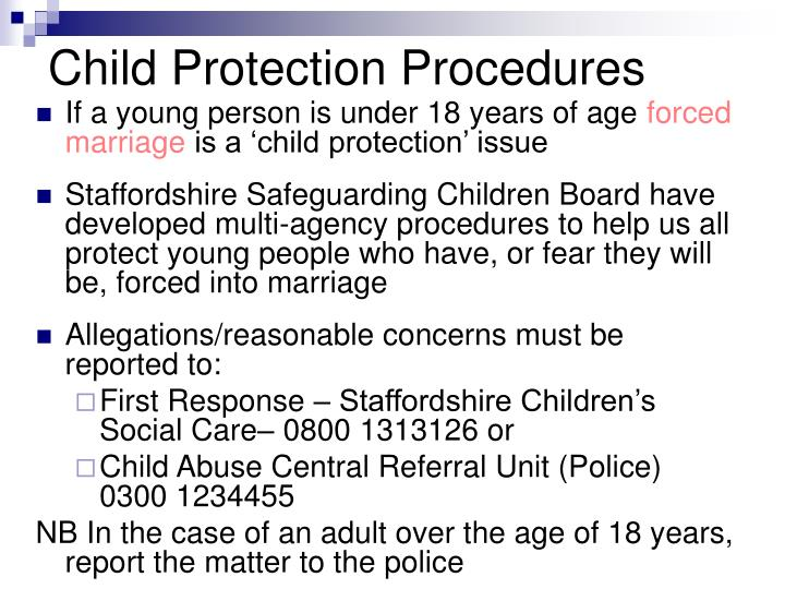 Child Protection Procedures