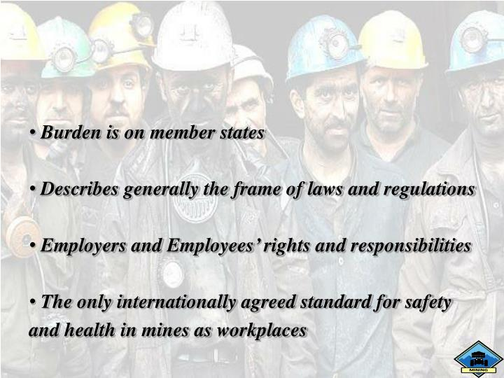 Burden is on member states
