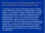 do the sentences in this paragraph decrease in generality reorder sentences if necessary