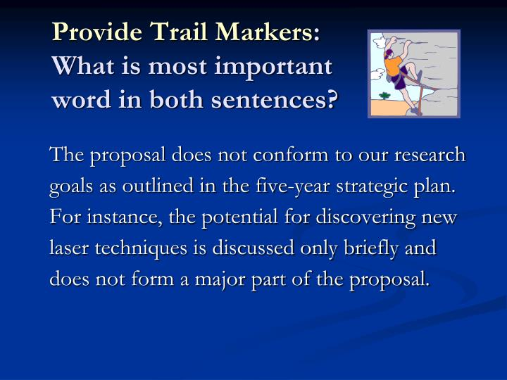 Provide Trail Markers