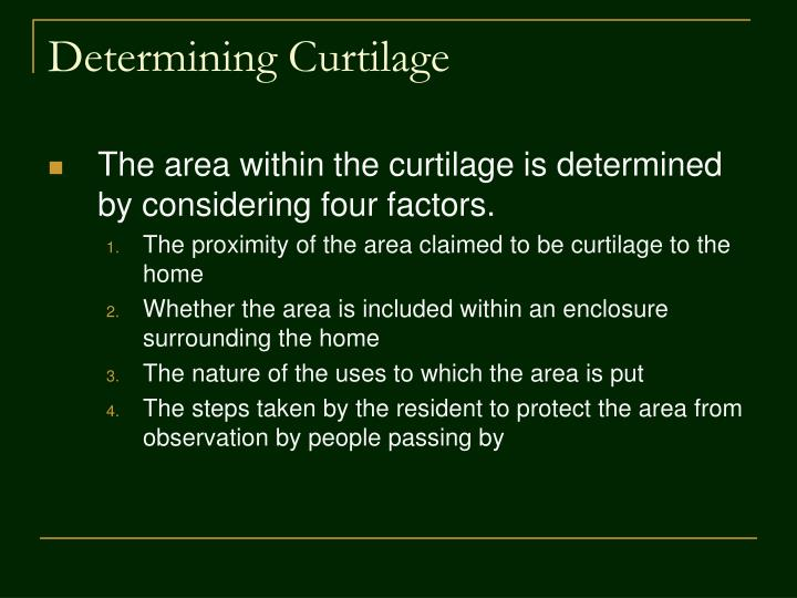 Determining Curtilage