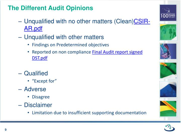 The Different Audit Opinions