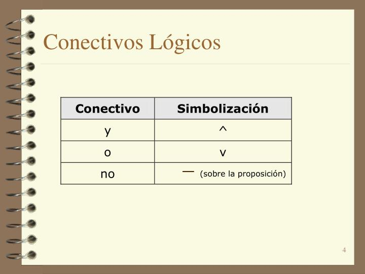 Conectivos Lógicos