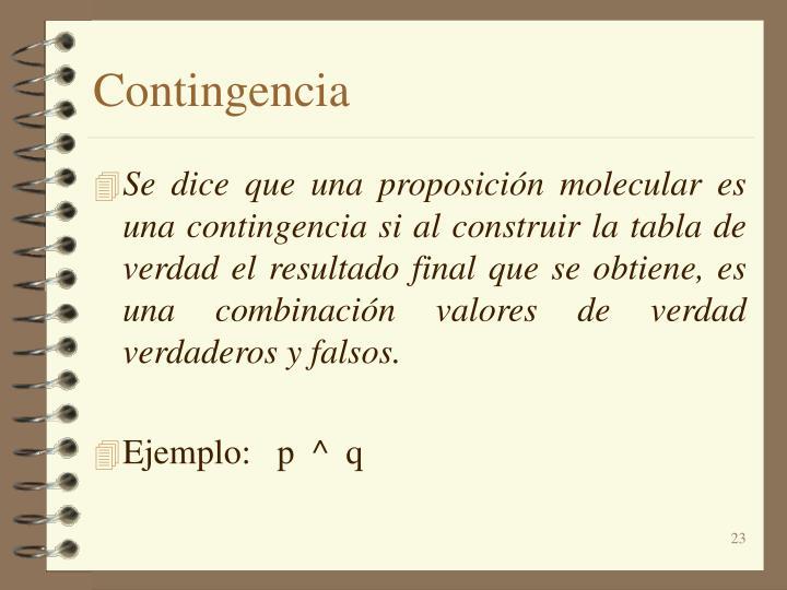 Contingencia
