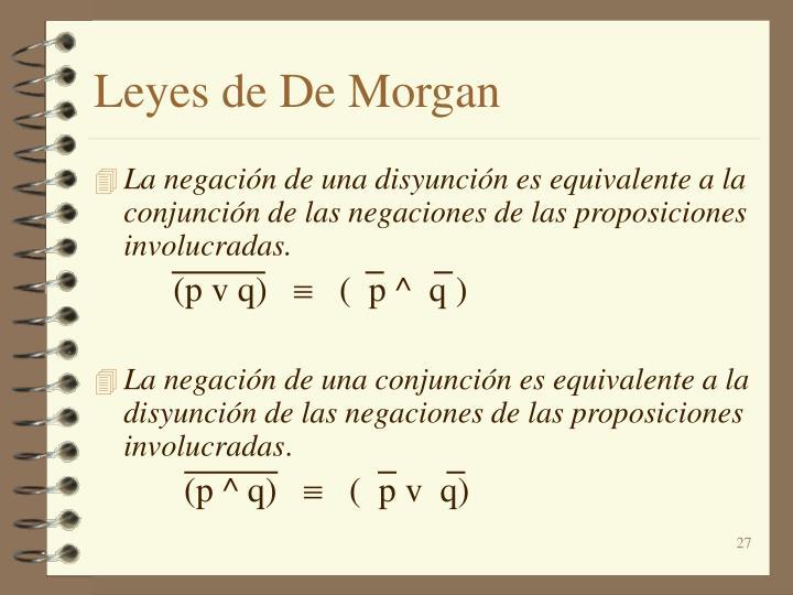 Leyes de De Morgan