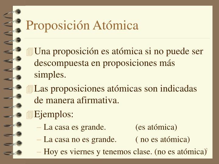 Proposición Atómica