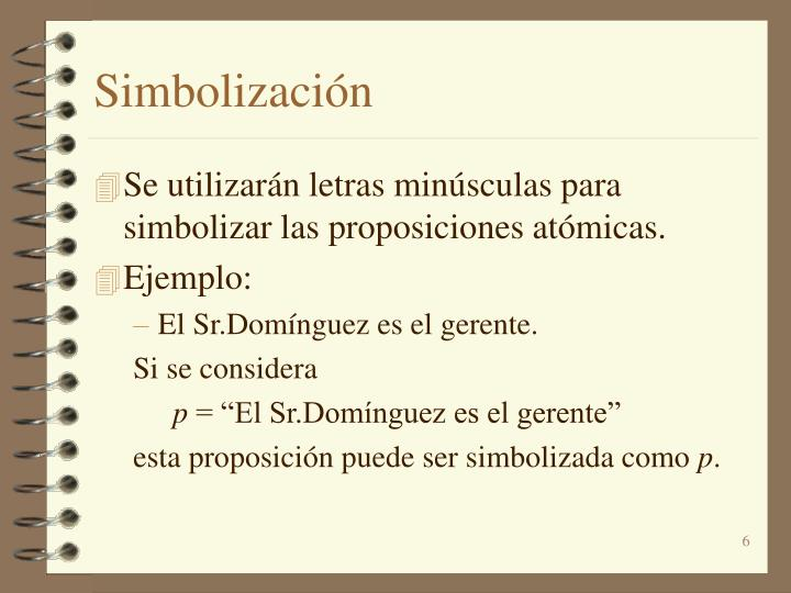 Simbolización