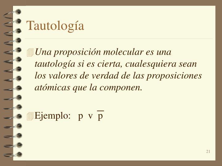 Tautología