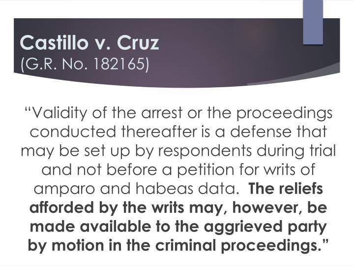 Castillo v. Cruz