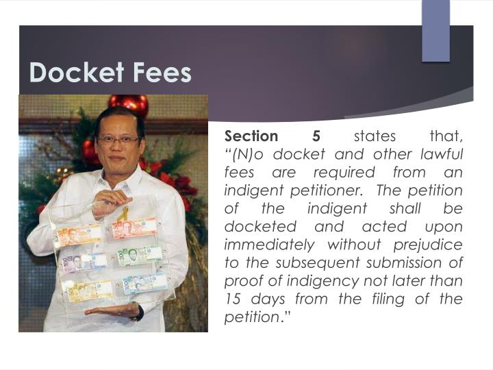 Docket Fees