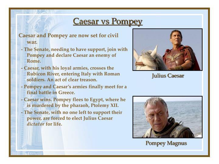 Caesar vs Pompey