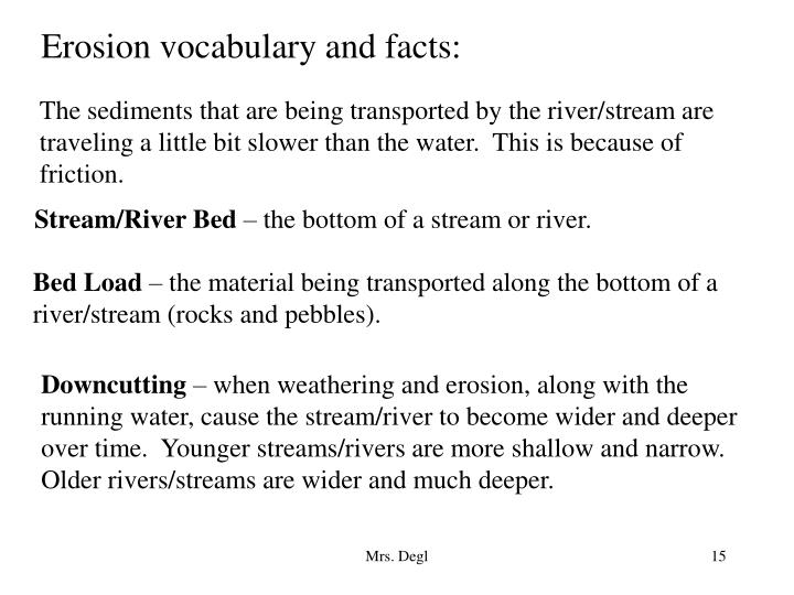 Erosion vocabulary and facts:
