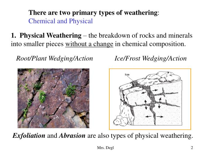 There are two primary types of weathering