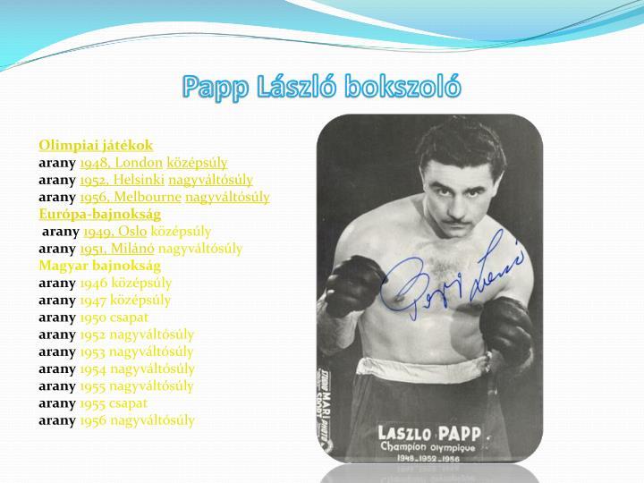 Papp László bokszoló