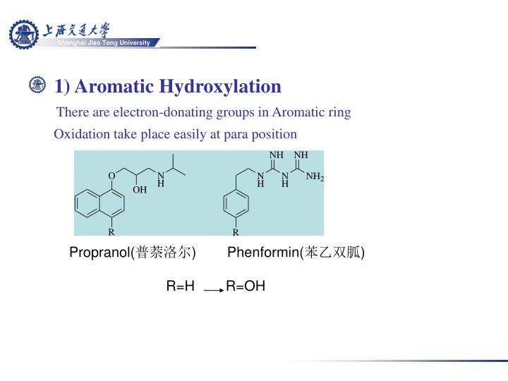 1) Aromatic Hydroxylation