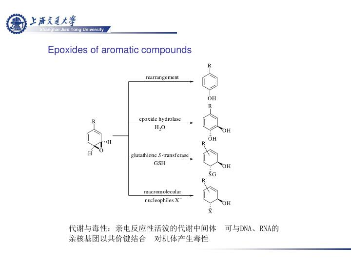 Epoxides of aromatic compounds