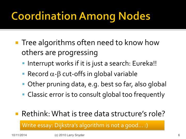 Coordination Among Nodes