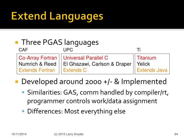Extend Languages