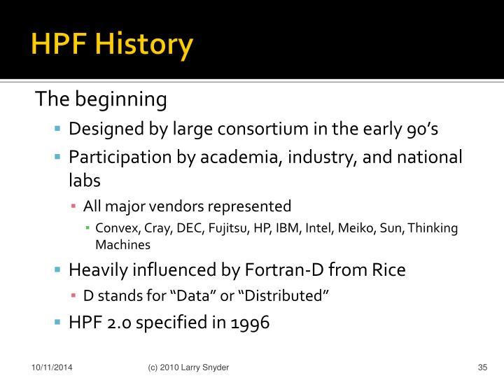 HPF History
