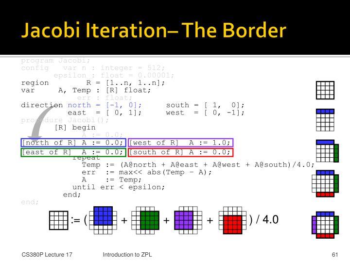 Jacobi Iteration– The Border