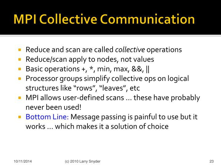 MPI Collective Communication