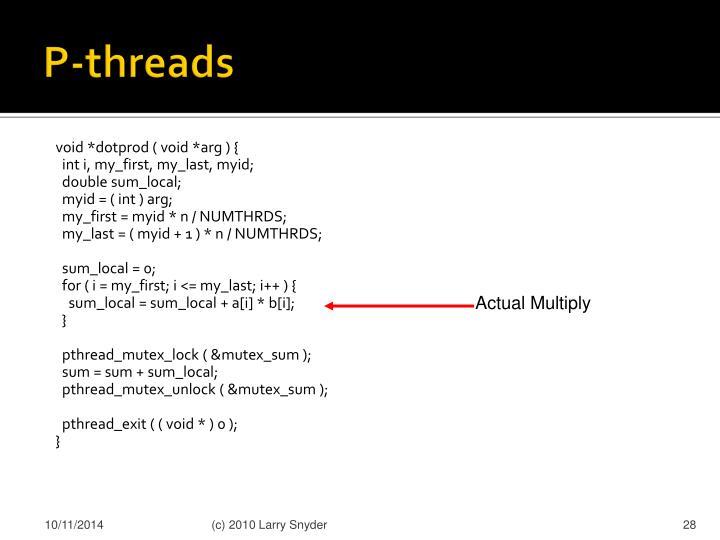 P-threads